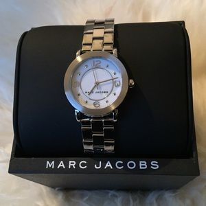 NWT Silver Marc Jacobs Watch